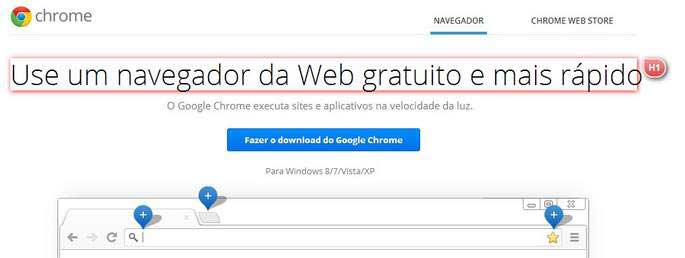 H1 do Google Chrome