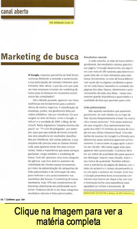 Matéria na Cardnews - Marketing de Busca