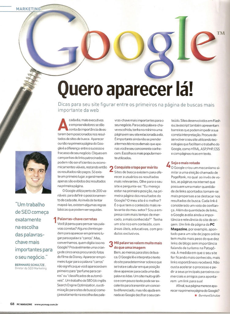 SEO Marketing na PC Magazine