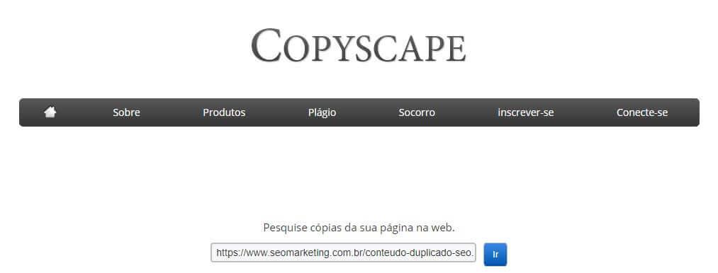 copyscape e conteúdo duplicado