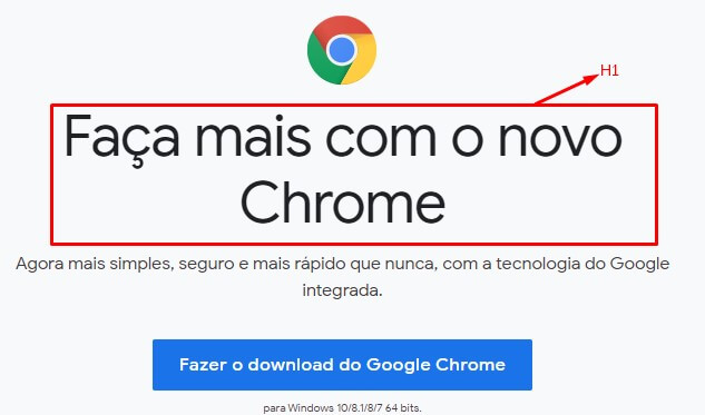 h1 google chrome